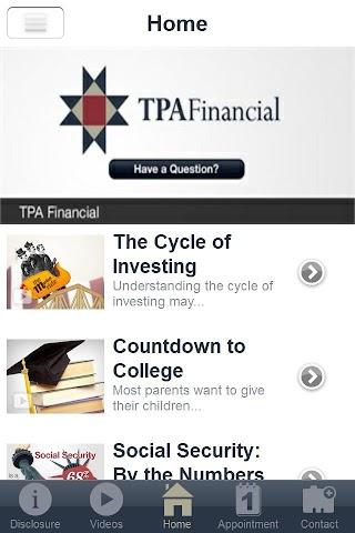 android TPA Financial Screenshot 1
