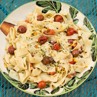 Charred Corn, Tomato, and Chive Pasta