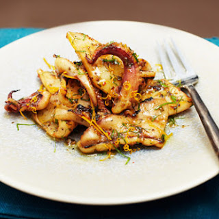 Grilled Squid with wild thyme, fennel and honey