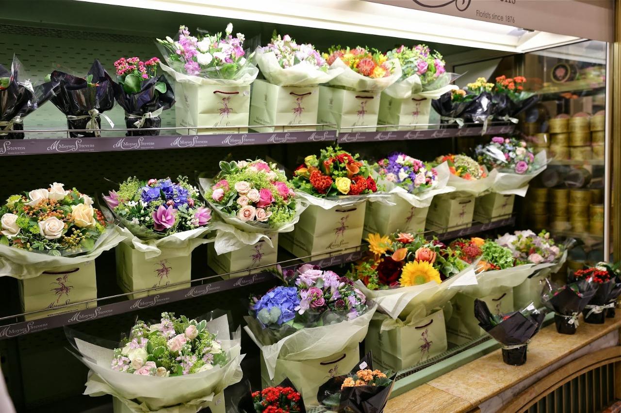 Цветочные букеты в магазине