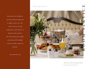 Room Service - Trifold Brochure template