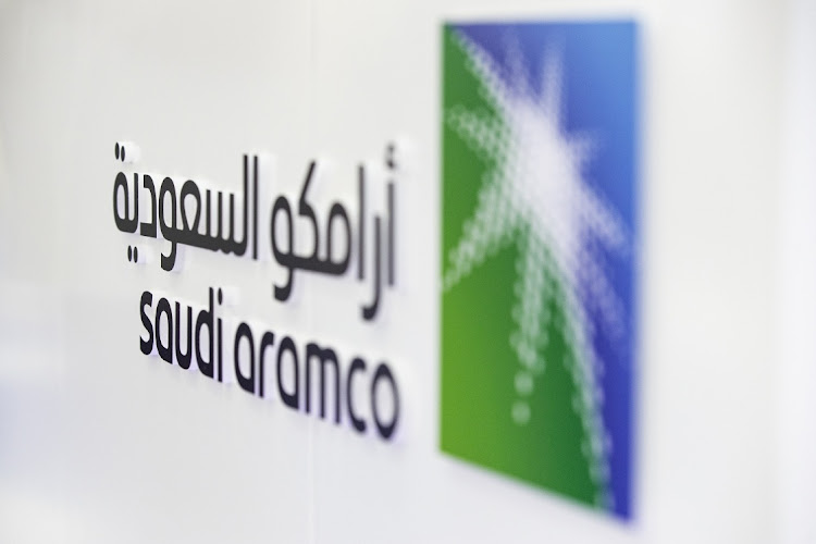 A Saudi Aramco logo in Abu Dhabi, United Arab Emirates. Picture: CHRISTOPHER PIKE/BLOOMBERG