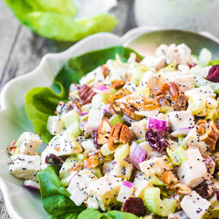 Chicken Salad with Poppy Seed Mayonnaise.