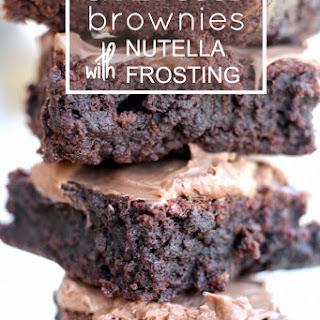 Homemade Chocolate Fudge Brownies.