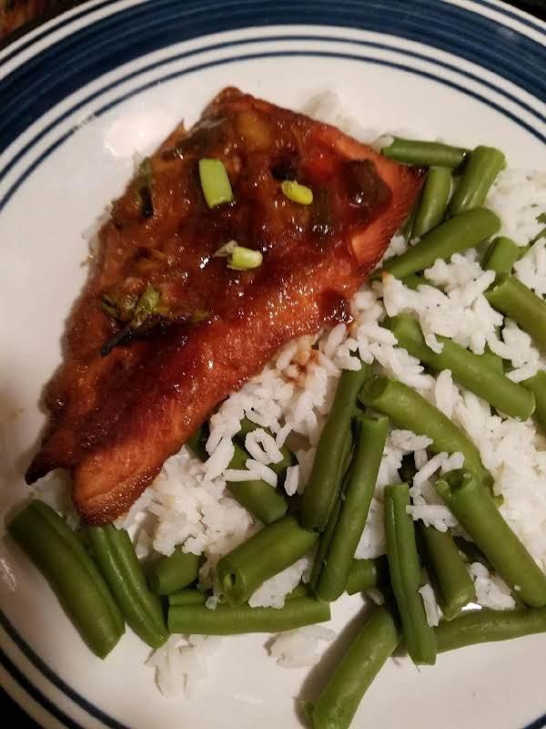 Marmalade Teriyaki Glazed Salmon