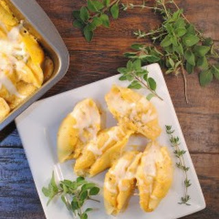 Butternut Sauce Spinach Ricotta Stuffed Shells