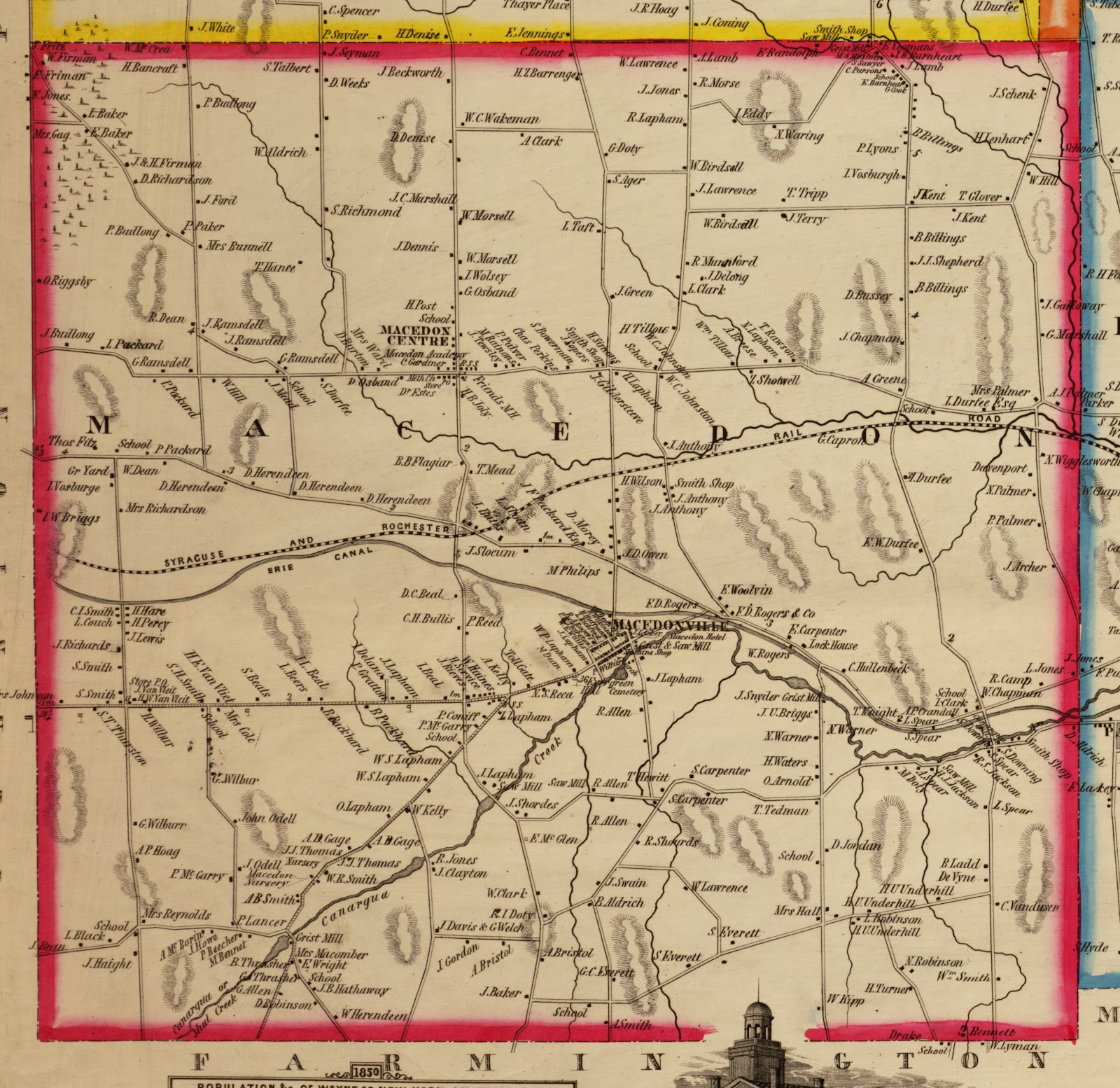 1853 H. F. Walling, wall map of Wayne County, N. Y.; Library of Congress, Geography and Map Division copy