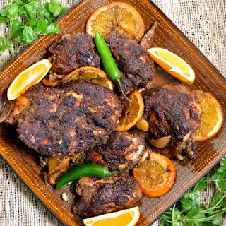 Slow Cooker Jerk Chicken.