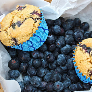 Fluffy Vegan Blueberry Vanilla Muffins