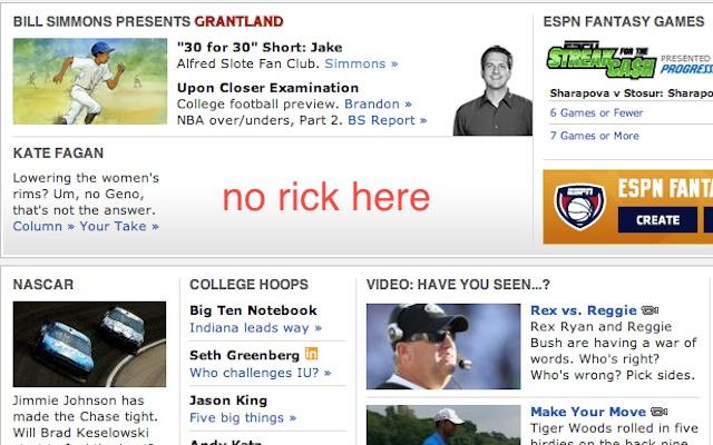 No Rick Reilly