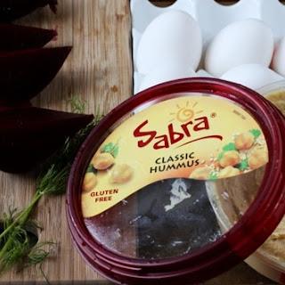 Beet & Sabra Hummus Deviled Eggs