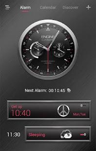 Silver Engine GO Clock Theme - náhled
