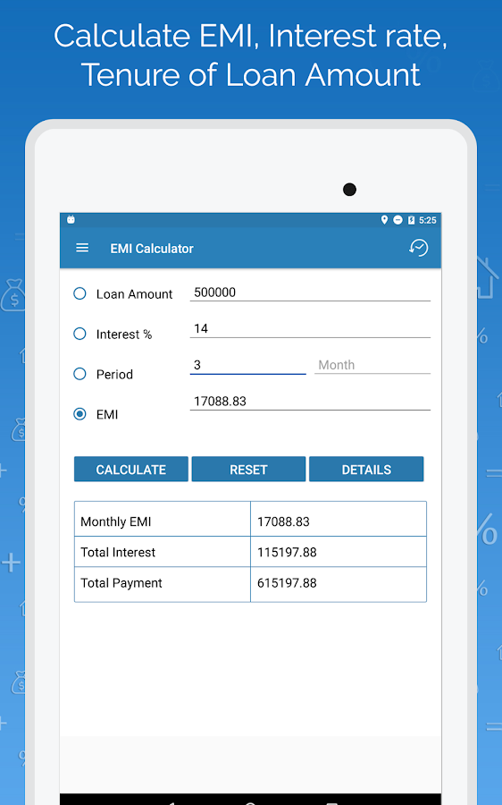 EMI Calculator - Loan & Finance Planner- screenshot