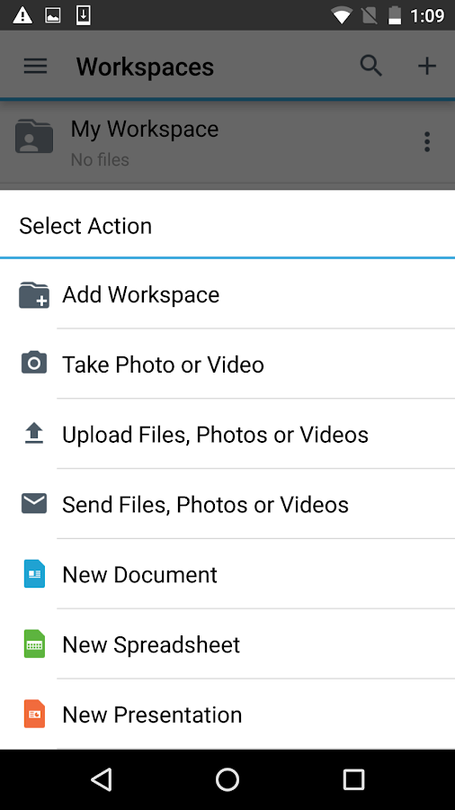 BlackBerry Workspaces- screenshot