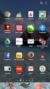 summer beach theme for xperia screenshot