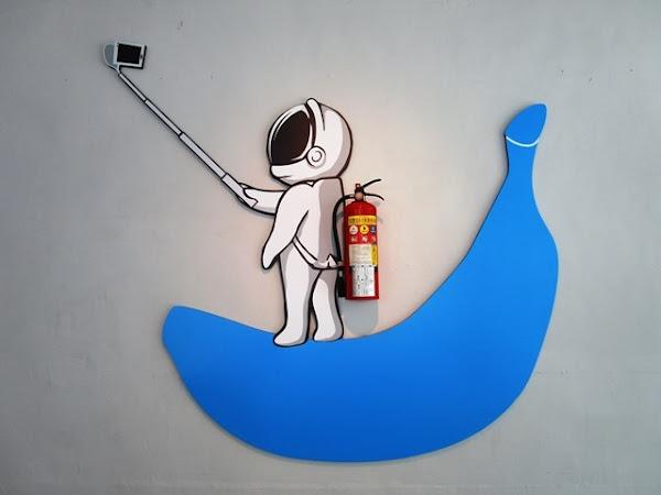 平價設計新穎的藍香蕉咖啡~Banana Blue Coffee 005