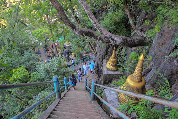 Climb up the 1260 steps to Wat Tam Sua