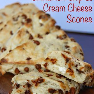 Cinnamon Chip & Cream Cheese Scones
