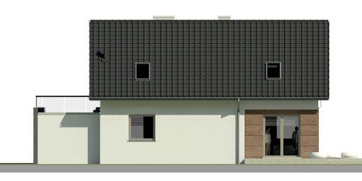 Dom przy Alabastrowej 10 - Elewacja tylna