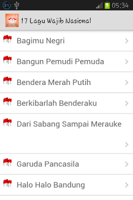 17 Lagu Wajib Nasional - screenshot