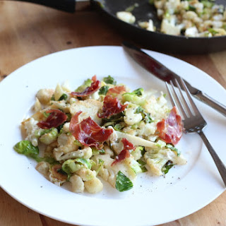 Warm Cauliflower and Prosciutto Salad with Chevre