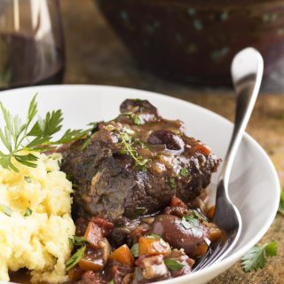 French Short Ribs Braised in Red Wine