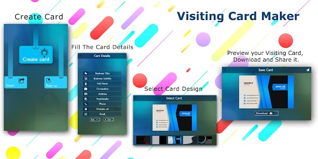 Visiting card app business card android apps on google play visiting card app business card screenshot thumbnail reheart Gallery