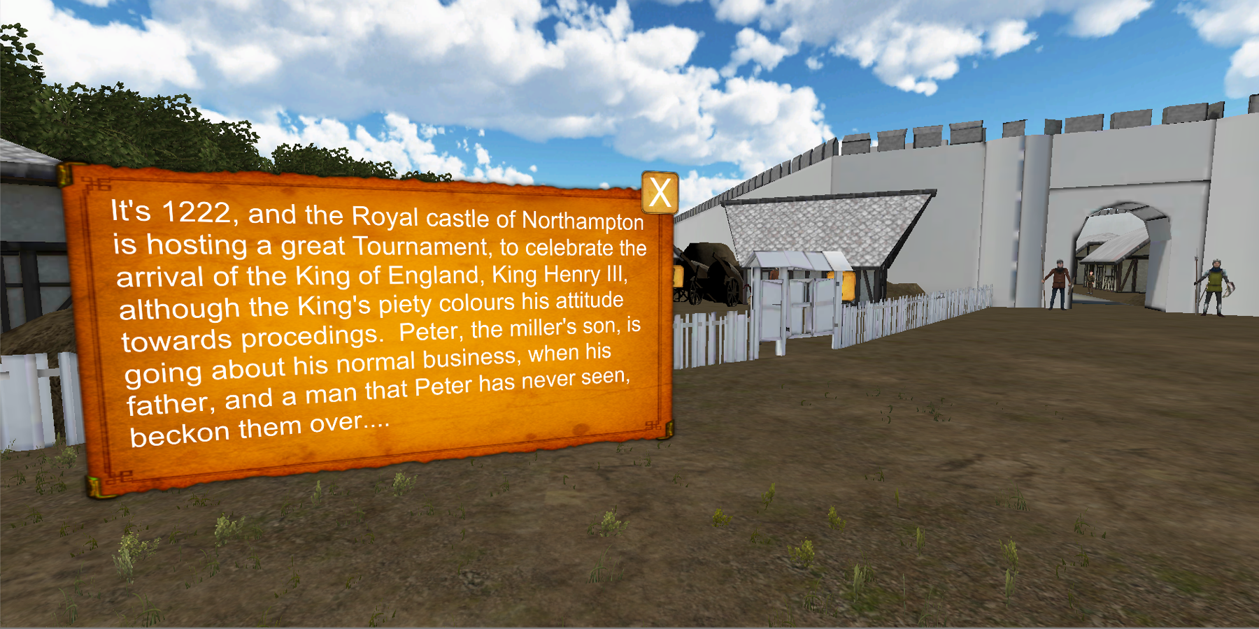 Northampton Castle VR for Cardboard 2.0- screenshot