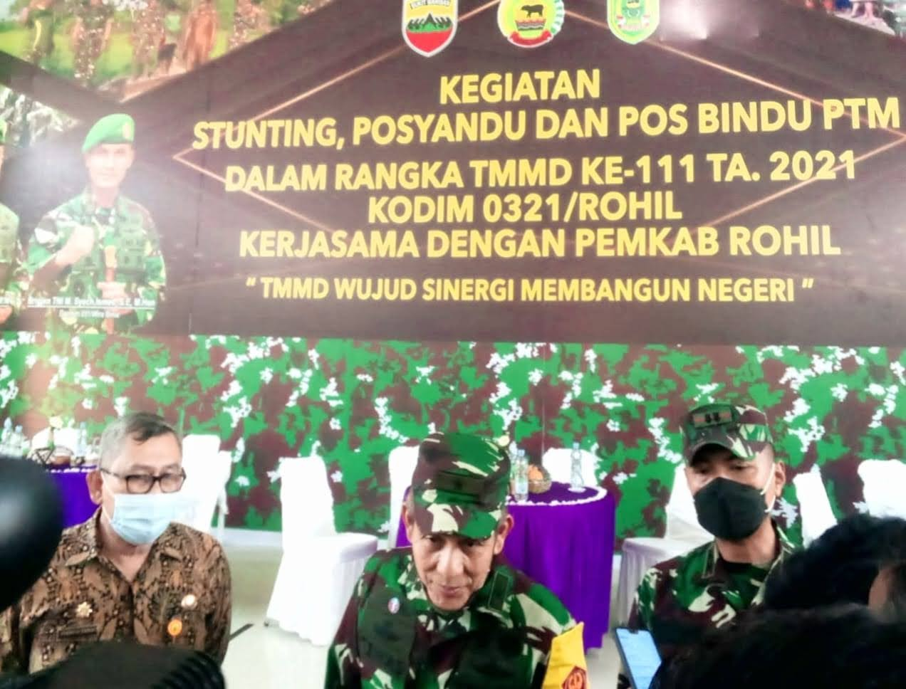 Tim Wasev Mabes TNI AD, Brigjend Temas S.SOS, M.M Tinjau Sasaran TMMD Kodim 0321/Rohil