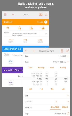 Easy Hours Timesheet Timecard Screenshot