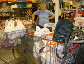 Photo: Charlsie at HEB, ready to deliver to the Food Pantry