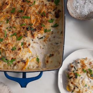 Delicata Squash And Rice Gratin