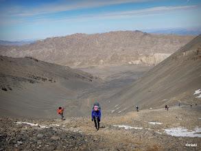 Photo: závěrečná stojka na hřeben MGounu, cca 3800m