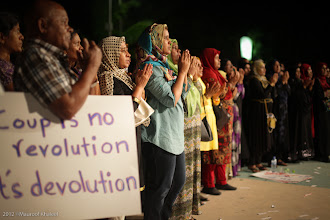 Photo: MDP Rally at Artificial Beach 13 Feb 2012