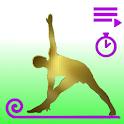 yoga mat Yoga sessions icon