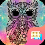 Galaxy Owl Emoji SMS Theme