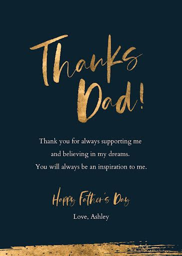An Inspiration to Me - Father's Day Card Template