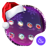 Purple Dream Christmas- APUS Launcher Free Theme
