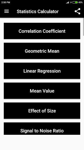 statistics calculator screenshot 2