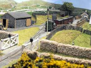 Photo: 125 Looking towards the buffer stops at Garreg Wen. The scenic extension allows a full depth photo to be achieved from this angle, that was not possible on the original layout .