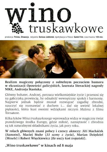 Tył ulotki filmu 'Wino Truskawkowe'