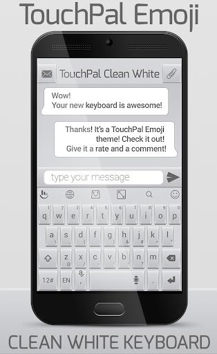 TouchPal Emoji Clean White