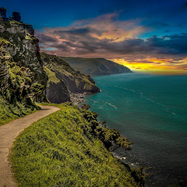Valley of the Rocks by Aamir DreamPix - Landscapes Mountains & Hills ( rock, trail, mountain, mountains, rocks, uk, hiking, exmoor )