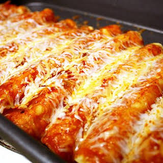 21 Day Fix Approved Chicken Enchiladas (Homemade Sauce).