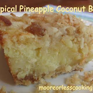 Tropical Pineapple Coconut Bars.