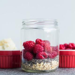 Raspberry White Chocolate Overnight Oats Recipe