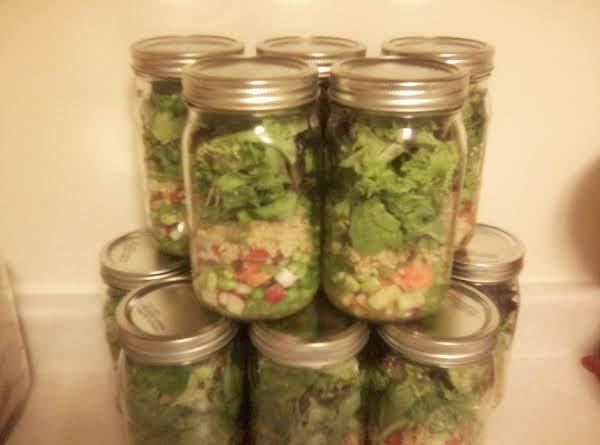 Organic Salad In A Jar.