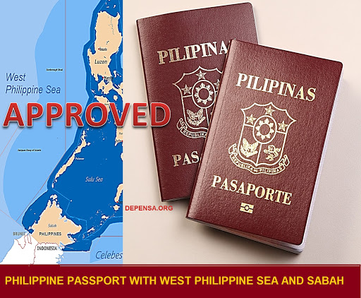 Philippines Bill 6399 Approved New Passport with Sabah - West Philippine Sea Map