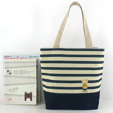 Biscuite橫紋款式手提袋