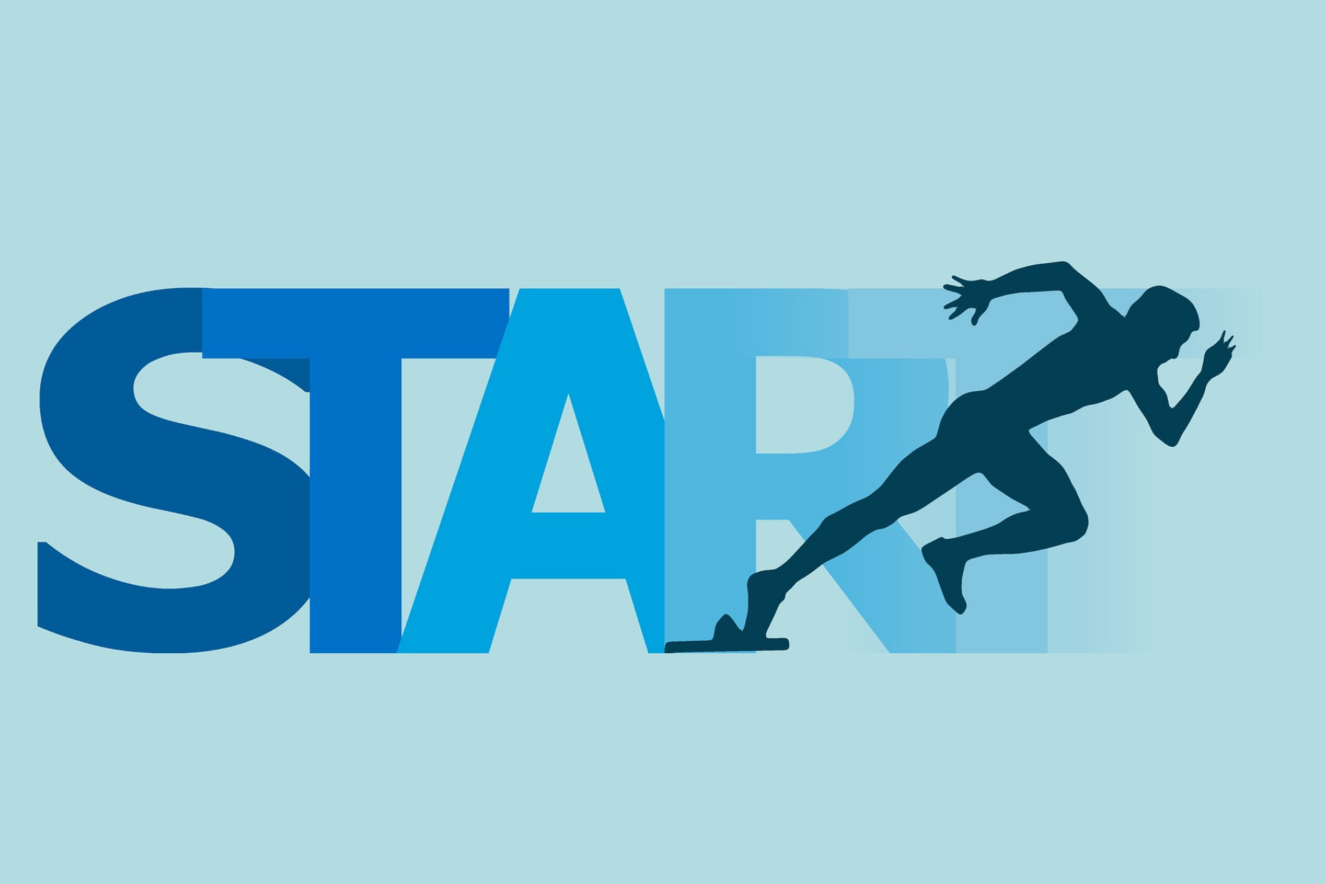 The word start with a runner.